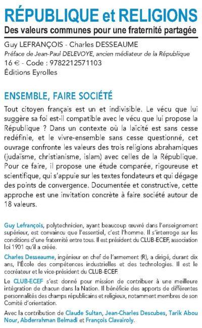 CLUB-ECEF : ouvrage République et Religions