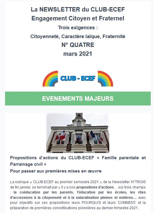 Newsletter ECEF n°QUATRE